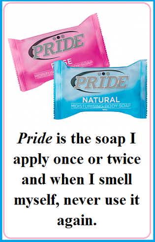 Pride soap with words
