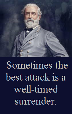 Robert E Lee with words