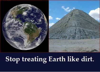 Earth and dirt with words