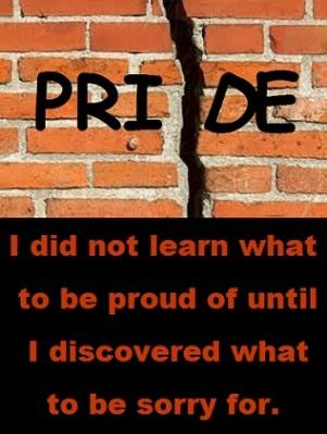 broken pride with words