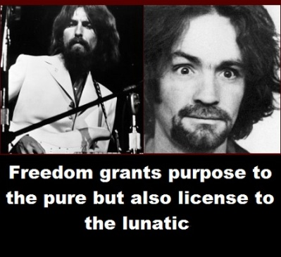 Lennon and Manson with words