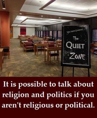 Quiet zone with words