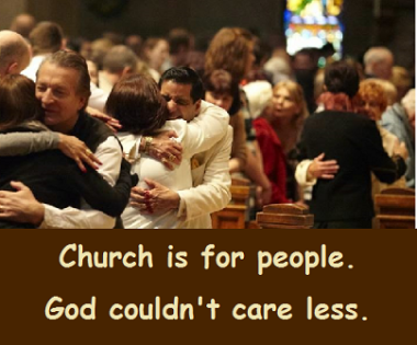 church hug with words
