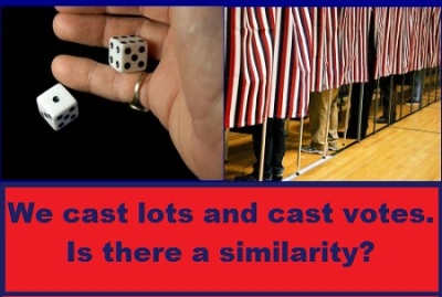 dice and voters with words