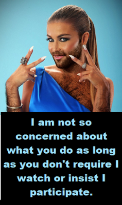hairy transvestite with words