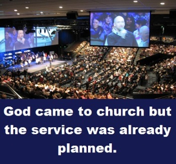 megachurch with words