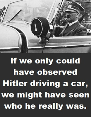 Hitler driving with words