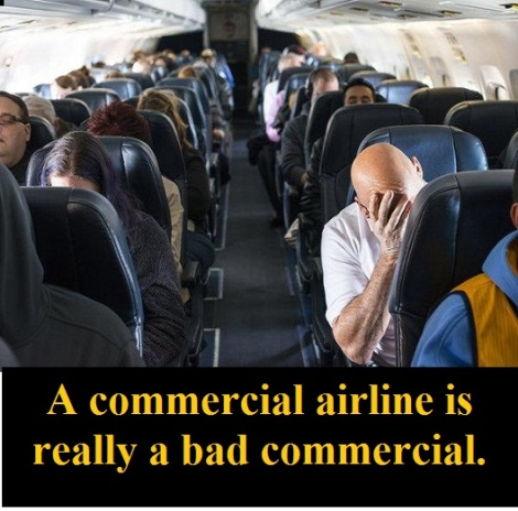 miserable airline passengers