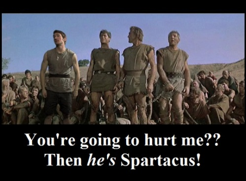 I Am spartacus spoof