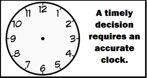timely decisions