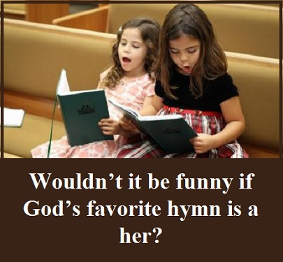 girls singing hymns