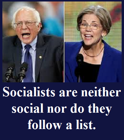 Bernie Sanders and Elizabeth Warren, Socialists