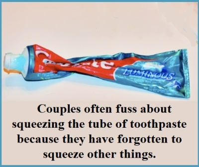 squeeze the toothpaste