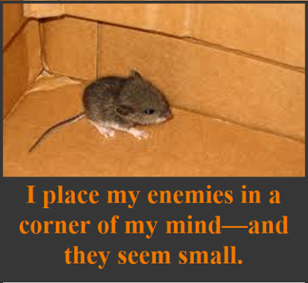 mouse in the corner